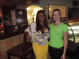 Owner/Manager Jacqueline Somesso & server Karli West - Photo by Cheryl Baisden Solis