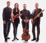 Padraig Allen (second from right) is the singer, storyteller and guitarist for New York's McLean Avenue Band.