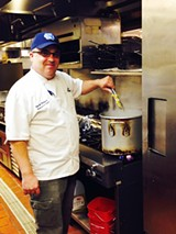 Pirates' House executive chef David Weikert cooks it up al dente