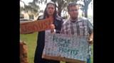 Protestors at Emmet Park