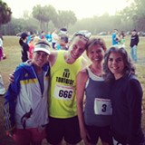Quincy Martel, Andy Bruner, the author, and Karen Heitner at SAV's first Ultra