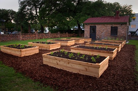 Raised beds at Trustees' Garden are reminiscent of the early use of the land as the nation's first agricultural experiment station. The beds are made with durable, insect- and rot-resistant western red cedar.