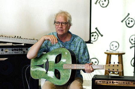 Richard Leo Johnson performs in-shop at Graveface Records and Curiosities. - DAVE SPANGENBURG
