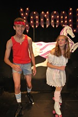 BILL DEYOUNG - Roll with it: Jonathan Aktas (Sonny) and Nina Miller (Kira) star in the St. Andrew's School production of Xanadu.