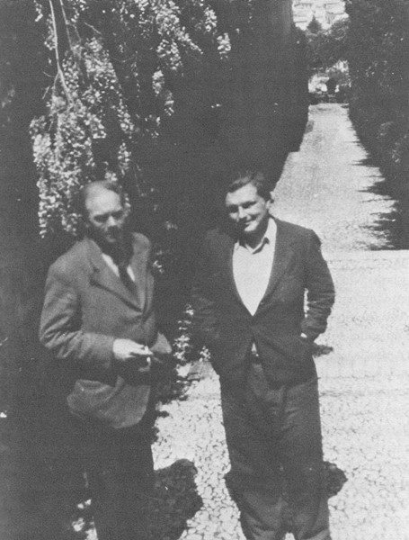 Savannah-born writer Conrad Aiken, left, adopted writer Malcolm Lowry as a kind of poetical son. This archival photo is from their trip together to Spain.