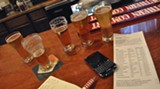 Savannah restaurants and bars are offering flights of beers and wines – a sampler line–up of small portions, so you can experiment