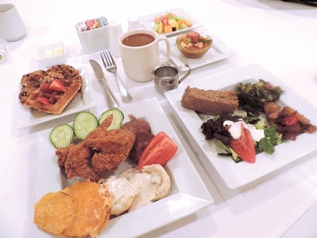 Scrumptious plates of goodies from the Sunday Brunch Buffet.