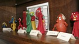 Some original Gumby action figures, part of the Miles' extensive collection