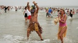 The aftermath of a previous Polar Bear Plunge. No natives were eaten in the making of this photo