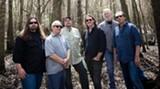 "The boys in the band: Dave Schools, left, Domingo ""Sunny"" Ortiz, Todd Nance, John Bell, Jimmy Herring and John ""JoJo"" Hermann."
