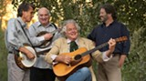 The boys in the (bluegrass) band: Keith Little, left, Jody Stecher, Peter Rowan and Paul Knight.