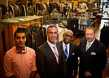 "The dapper gents of The Men's Store By Joseph: Sam Dabit, Joseph Dabit and haberdashers Tommy Hall and Tim ""Bish"