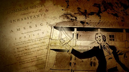 The documentary Shadows of Liberty evokes the spirit of patriot and journalist Thomas Paine, who used the freedom of the press to help stoke the American Revolution.