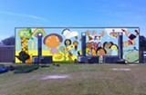 The final mock-up of the mural to be painted on the back of the West Broad Street YMCA, which was designed by the YMCA kids and will be painted by Hebermehl and Ray.