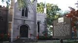 JIM MOREKIS - The historical marker outside the present site of Savannah's Universalist Unitarian Church