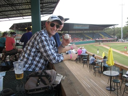 The late Matt Kohler in an archive shot of him enjoying one of his favorite pasttimes, a Sand Gnats baseball game.