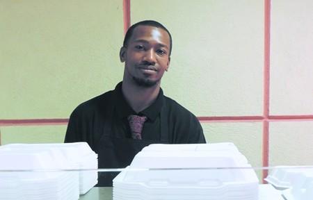 The 'Little King' himself, son of owners/chefs Samuel & Delphine Keye: Sam, Jr.