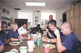 The Mighty B Shift chow down