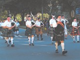 JBYOUSPHOTO.COM - The Savannah Pipe and Drum Corps at their debut in the Veterans Day Parade