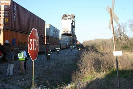 The scene at the Doctortown Trestle after the Midnight Rider accident