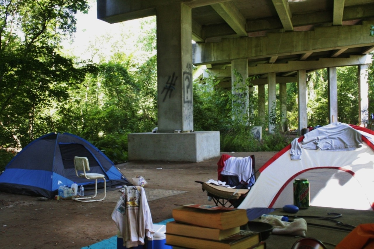 The scene under the Truman Parkway r& at President Street Extension & Living under the bridge | Community | Savannah News Events ...