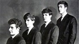 The tidied-up Beatles in '62: Pete, left, George, Paul and John