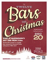 "TOM KENKEL DESIGN - ""The Twelve Bars of Christmas"" 5k Charity Bar Crawl"