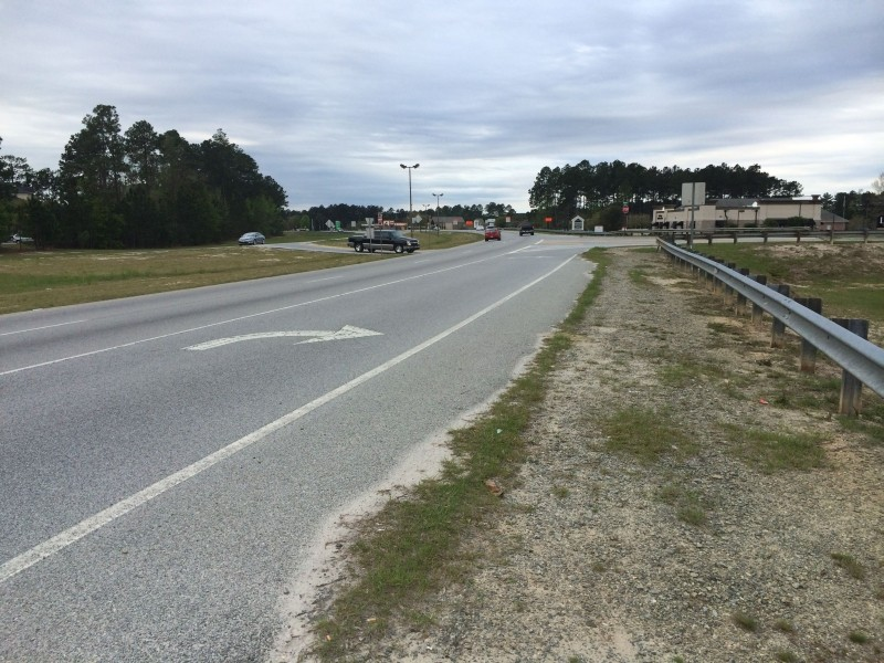 This is what passes as a sidewalk along one of the busiest sections of Pooler Parkway in Godley Station.