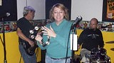 Those were the days: Lori onstage with Rhythm Riot.