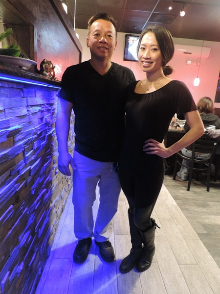 Timmy and daughter Christine Tsoi, owners of Spendid Shabu in Pooler.