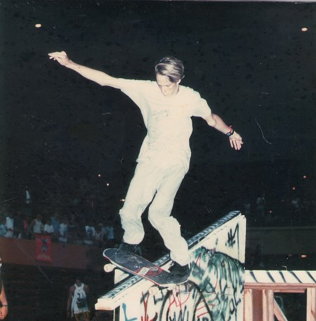 Tony Hawk rode rails at Savannah Slamma in the late 1980's. - TIM MALINS