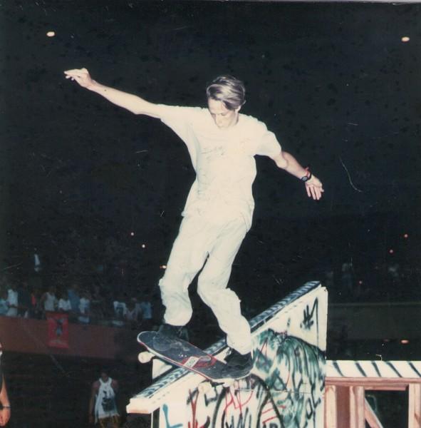 Tony Hawk rode rails at Savannah Slamma in the late 1980's. - TIM MALINS