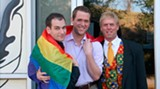 Travis Sawyer of First City Network, Chris Brown of Savannah Pride and Georgia Equality's Kevin Clark.