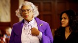 """Tyler Perry (that's him on the left) in full """"Madea"""" getup."""