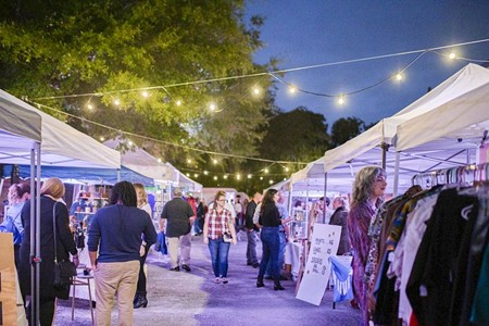 A scene from a previous Savannah Night Market.
