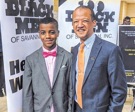 Harold Oglesby, right, is president of the 100 Black Men of Savannah.