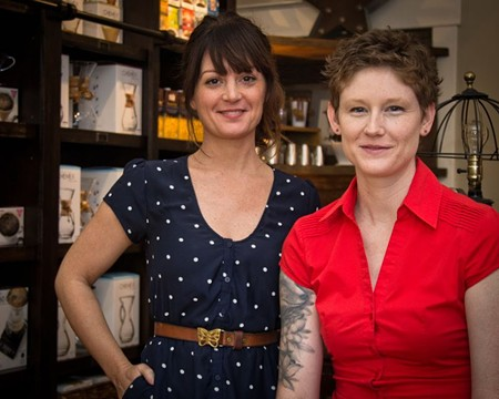 Shop the Fox owner Jennifer Jenkins (above, l.) and manager Megan Luther offer coffeemakers, art books and other accoutrements of café culture. - JON WAITS/JWAITSPHOTO
