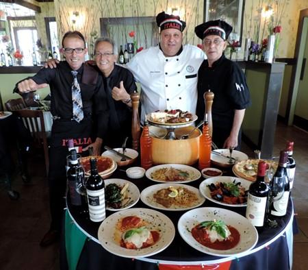 From left: Frank Iemmo, Phil Felice, Chef Gary Langevin, Asst. Chef Reuben Rodriguez