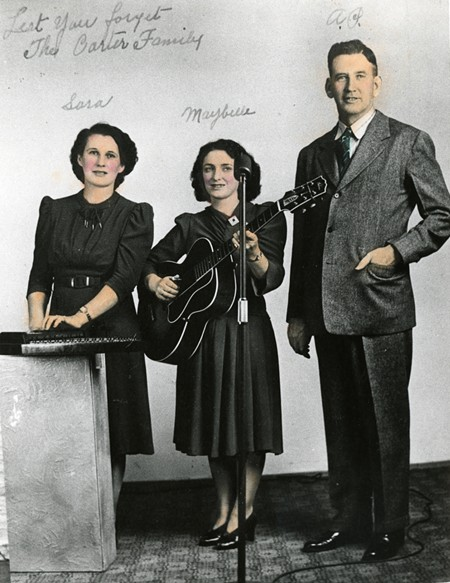 The original Carter Family: Sara, Maybelle, and A.P.