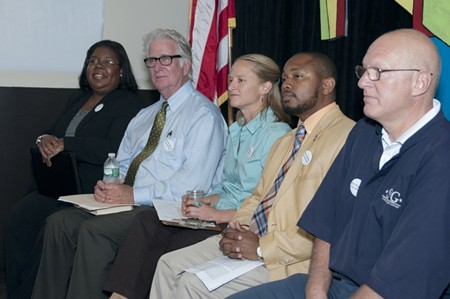 (L to R): Neither Monifa Johnson, John McMasters, Kristen Russell, George Seaborough nor Dave Simons is running for mayor, which is a real bummer 'cause each of them has some excellent solutions for what ails Savannah. - EMILY EARL