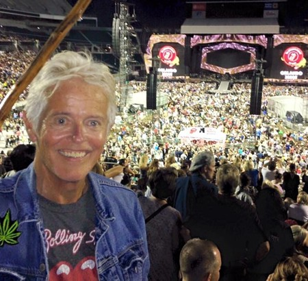 Barr attending a Rolling Stones concert with his son and daughter-in-law, June 2015. - COURTESY OF BARR DYLAN NOBLES