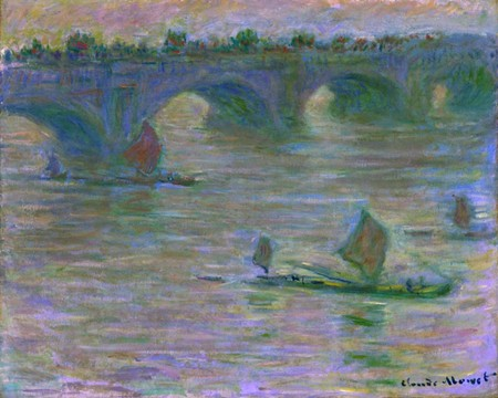 Claude Monet (France, 1840-1926) - Waterloo Bridge, 1903 - Oil on canvas, 26 x 92 in. (66 x 81.3 cm) - Collection of the Lowe Art Museum, University of Miami, - Gift of Ione T. Staley, 60.057.000