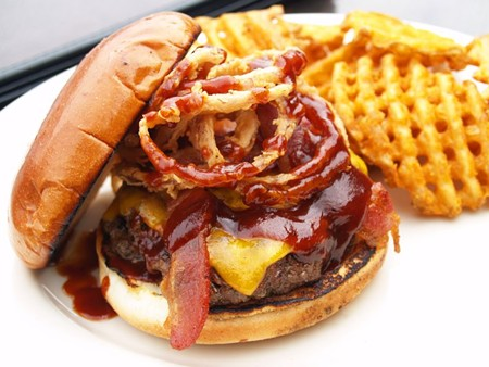 The BBQ Bacon Cheeseburger is made with 100 percent certified Angus beef.