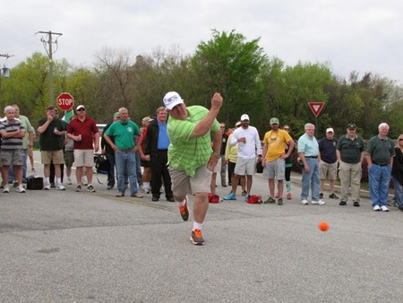 Road bowling is a mix between golf and bowling, and it is tricky.