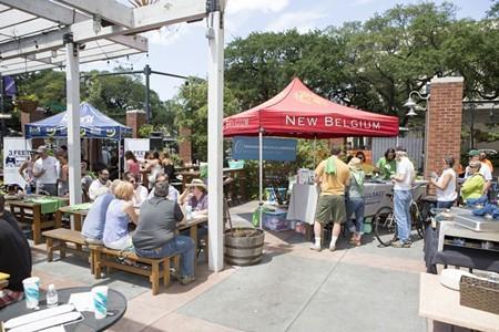 The fun happens in the Moon River Beer Garden.