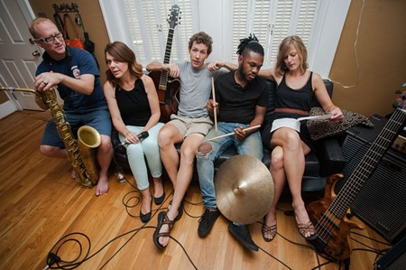 """The """"With A Twist"""" cast in rehearsals. - JON WAITS 
