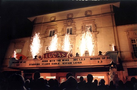 The marquee at the grand reopening in 2000.