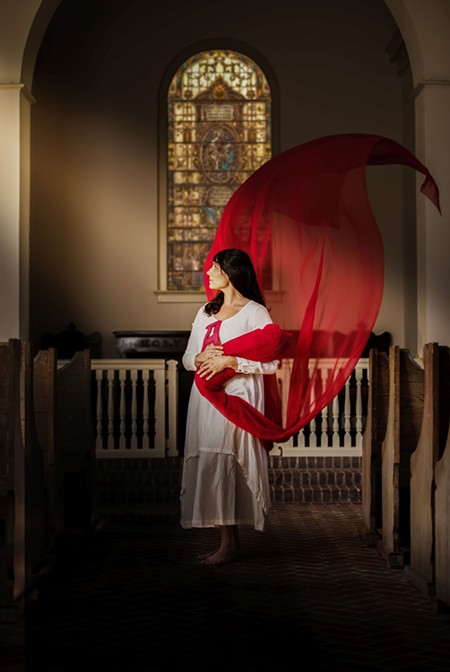 Ashley Cook stars as Hester Prynne in Savannah Stage Company's The Scarlet Letter. - STARLAND PORTRAIT & WEDDING PHOTOGRAPHY