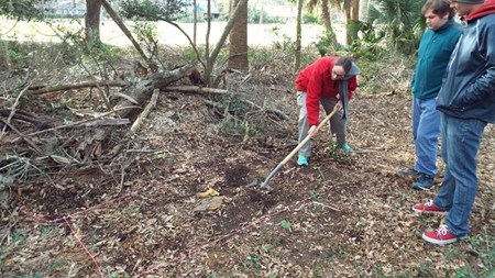 Laura Seifert and her team are digging on Skidaway Island for what remains of an old school house.