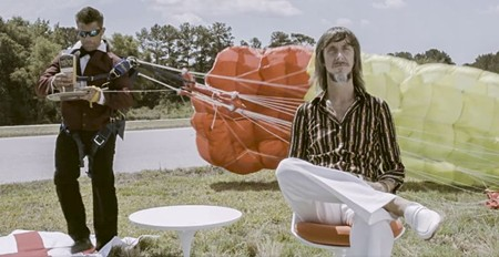 Screen capture of the web video ad for The 1970 vodka; Wes Daniel at right